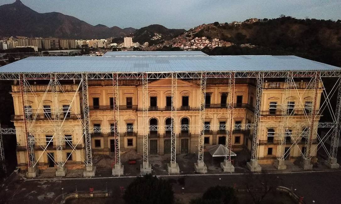 Museu Nacional, na Quinta da Boa Vista: obras emergenciais foram concluídas Foto: Custódio Coimbra / Agência O Globo