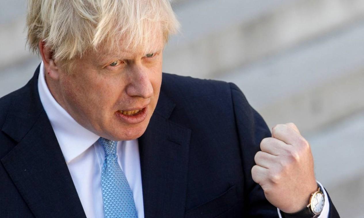 Pedido de Boris Johnson busca dificultar que o Parlamento impeça a saída do Reino Unido, Brexit, da União Européia (UE) sem acordo de transição Foto: GEOFFROY VAN DER HASSELT / AFP