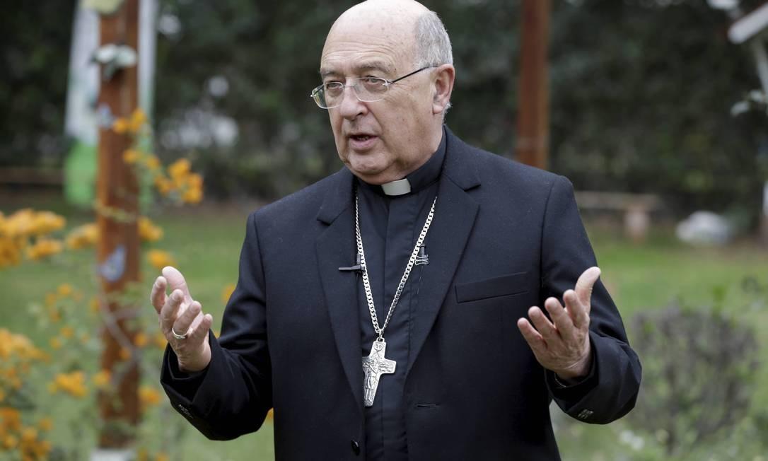 O cardeal peruano Pedro Barreto, vice-presidente da Rede Eclesial Pan-Amazônica Foto: Domingos Peixoto / Agência O Globo