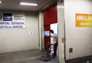 O hospital estadual Getúlio Vargas, para onde a menina foi levada Foto: Paulo Nicolella / Agência O Globo / 07-02-2018