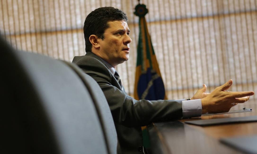 Ministro da Justiça, Sergio Moro concede entrevista em Brasília Foto: STRINGER 12-08-2019 / REUTERS