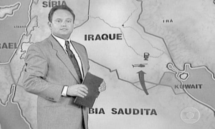 Ernesto Paglia em reportagem sobre a Guerra do Golfo Foto: Divulgação