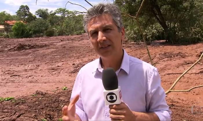 Cobertura do rompimento da barragem em Brumadinho, em 25 de janeiro de 2019 Foto: Reprodução / Video