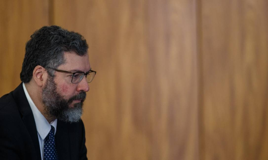 O chanceler Ernesto Araújo Foto: Daniel Marenco / Agência O Globo