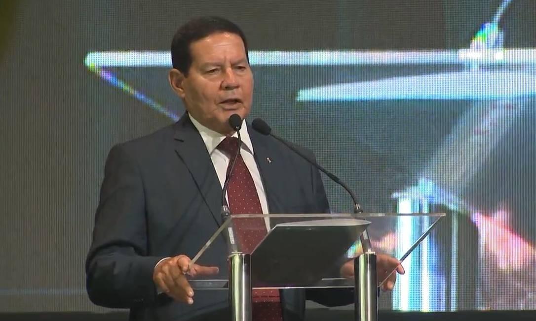 O vice-presidente Hamilton Mourão Foto: Reprodução