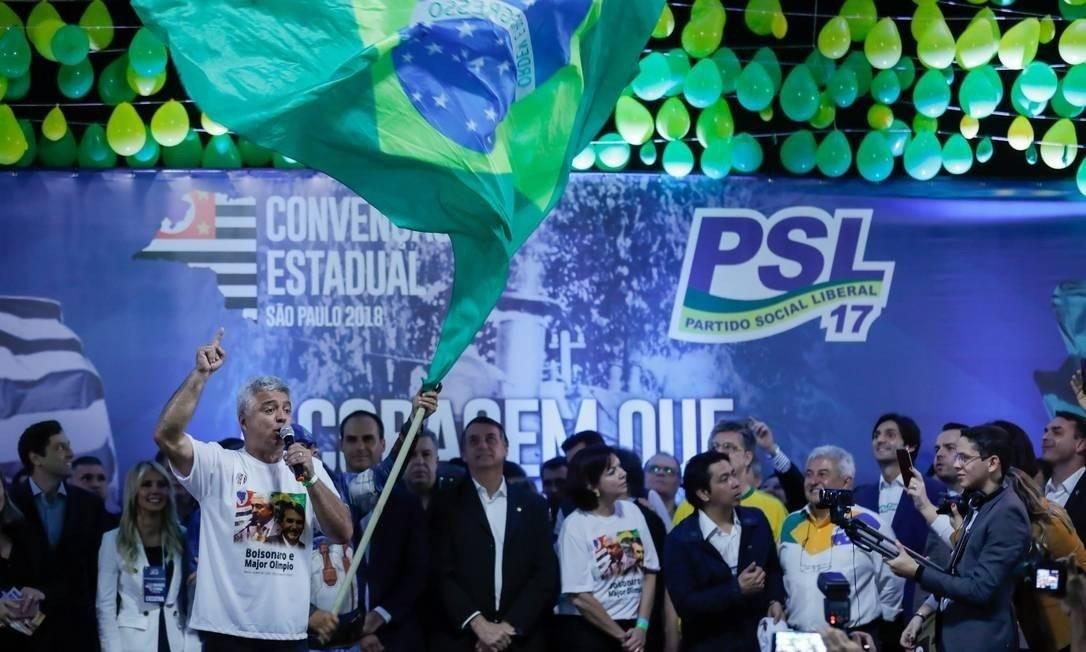 Convenção estadual do PSL em São Paulo Foto: Marcelo Chello/CJPress/Agência O Globo