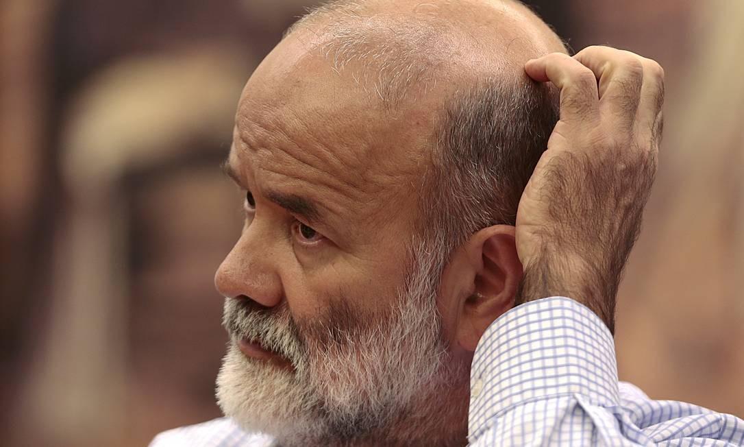 João Vaccari participa de sessão de CPI no congresso em 2016 Foto: Jorge William / Agência O Globo