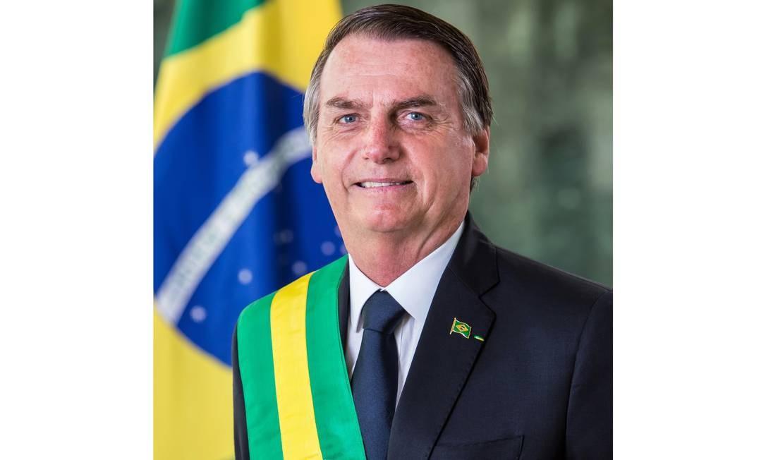 Foto oficial do presidente Jair Bolsonaro Foto: Presidência