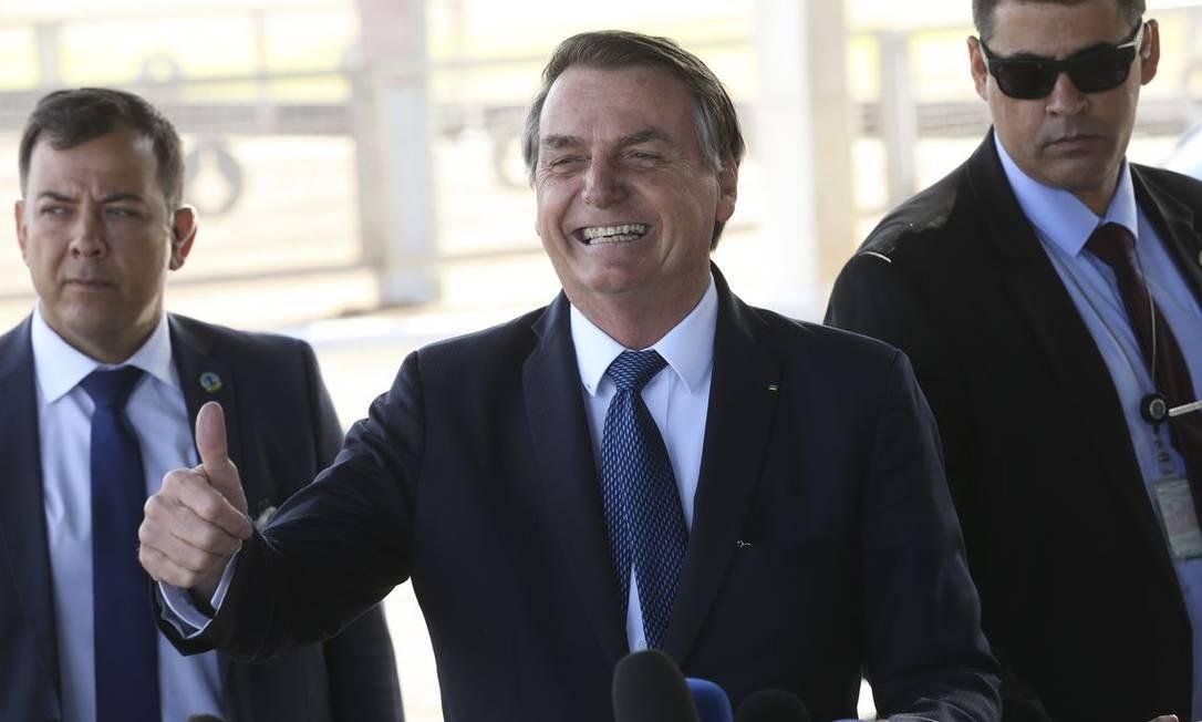 O presidente Jair Bolsonaro, na saída do Palacio da Alvorada Foto: Antonio Cruz/ Agência Brasil