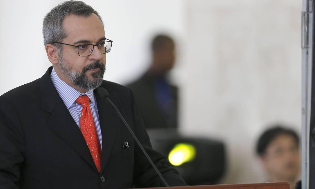 a foto, o ministro da Educação, Abraham Weintraub Foto: Jorge William / Agência O Globo
