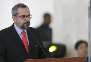 O ministro da Educação, Abraham Weintraub Foto: Jorge William / Agência O Globo