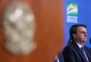 """Presidente do Brasil, Jair Bolsonaro participa do lançamento do projeto de segurança pública """"Em Frente Brasil"""" Foto: Marcos Corrêa/PR"""