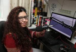 Isabelle Reis é a criadora e apresentadora do programa Foto: Pedro_Teixeira / Agência O Globo