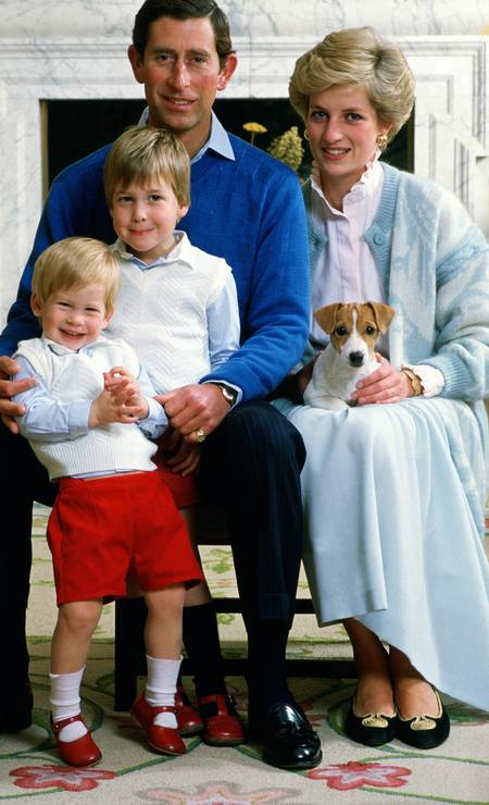 Charles, Harry, William e Diana: retrato de família Foto: Tim Graham / Tim Graham Photo Library via Get