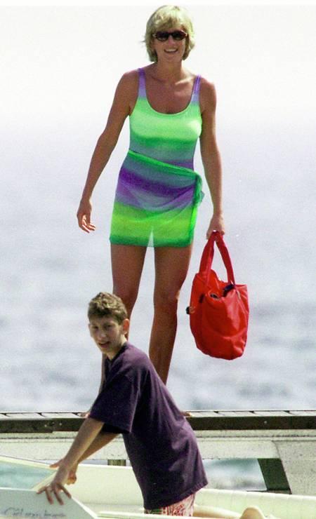Diana em Saint-Tropez, no verão de 1997 Foto: Michel Dufour / WireImage