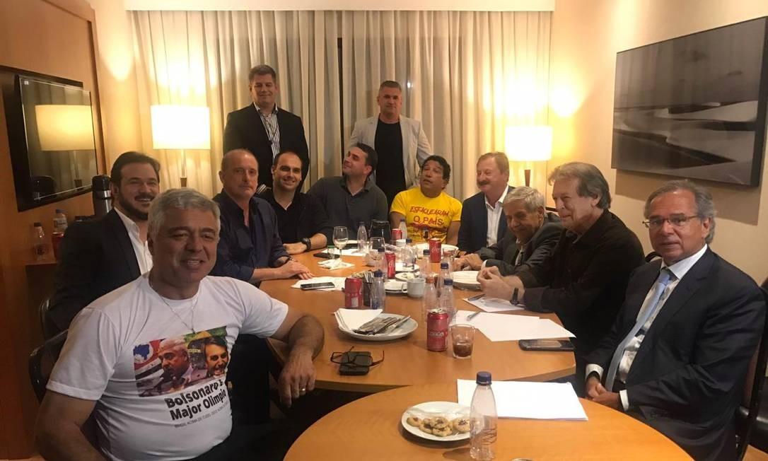 Reunião da cúpula da campanha de Jair Bolsonaro 18-09-2018 Foto: Jussara Soares / Agência O Globo