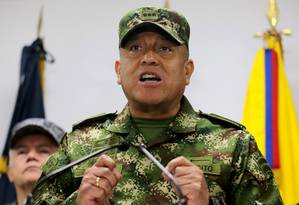 Luis Fernando Navarro, foi nomeado como comandante-geral das Forças Militares da Colômbia Foto: Luisa Gonzalez / Agência O Globo