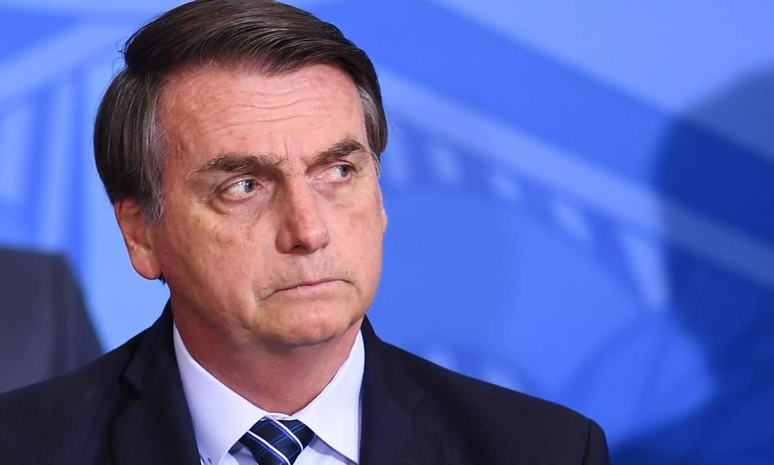 Bolsonaro: presidente pediu o afastamento de Christian de Castro do comando da Ancine Foto: Evaristo Sá / AFP