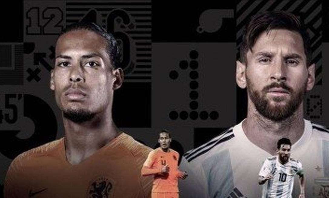 Van Dijk, Messi e CR7 são os finalistas do The Best Foto: Reprodução