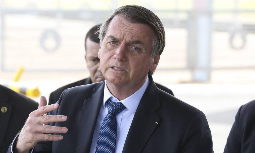 O presidente Jair Bolsonaro, na saída do Palácio da Alvorada Foto: Antonio Cruz/Agência Brasil