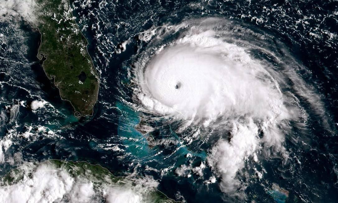 Imagem de satélite do Furacão Dorian Foto: NOAA / Getty Images