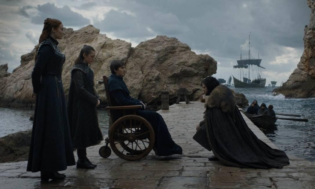 Imagen do episódio final de Game of thrones, da HBO Foto: Divulgação