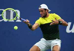 Berrettini surpreendeu Rublev no US Open Foto: Mike Stobe / AFP