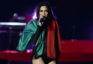 A cantora inglesa Jessie J, no Rock in Rio Lisboa de 2018 Foto: Agência Zero / Divulgação