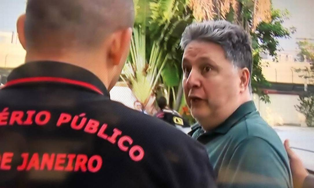 O ex-governador Garotinho é preso em operação do MP e da Coordenadoria de Segurança e Inteligência Foto: Reprodução TV Globo