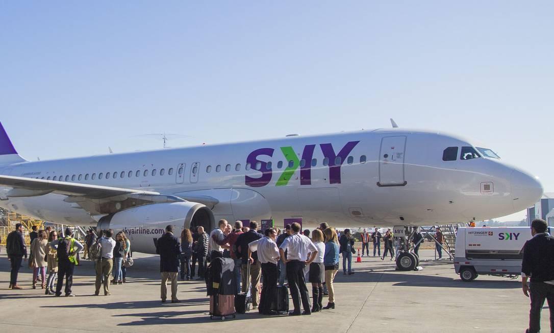 Avião da Sky Foto: Sebastian Murillo / Divulgação