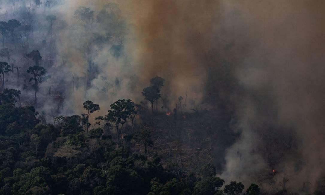 Queimadas em Rondônia, no final de agosto Foto: Victor Moriyama / Getty Images