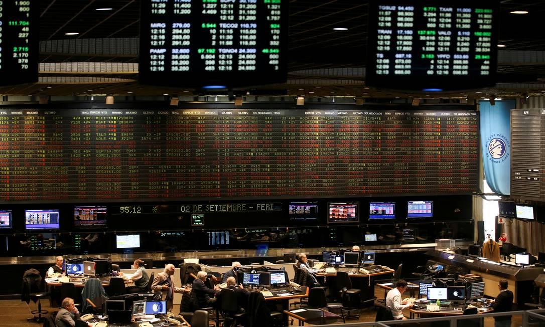 Vista do pregão da Bolsa de Valores de Buenos Aires, em Buenos Aires, Argentina Foto: AGUSTIN MARCARIAN / REUTERS