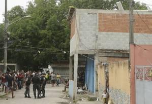 O pedreiro José Pio Baía Júnior foi atingido enquanto trabalhava numa obra, na laje de um bar da comunidade Foto: Antonio Scorza / Agência O GLOBO