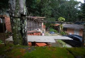 Casas em construção na Estrada Sorimã preocupam vizinhos Foto: Bruno Kaiuca / Agência O Globo