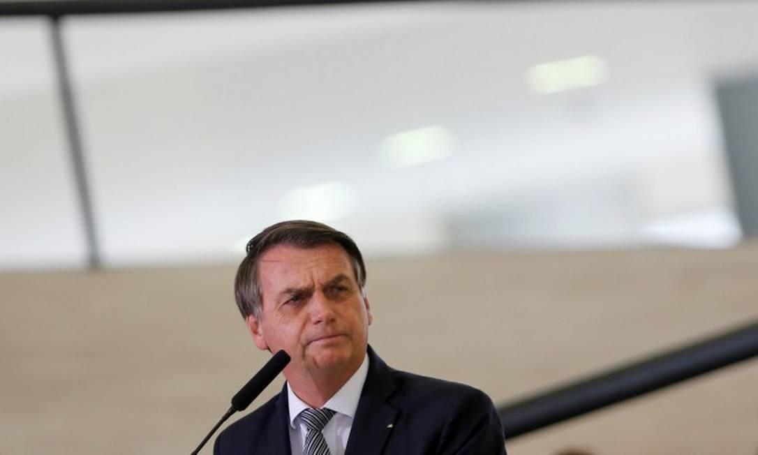 Presidente Jair Bolsonaro, durante cerimônia no Palácio do Planalto Foto: ADRIANO MACHADO / REUTERS / 03-09-2019