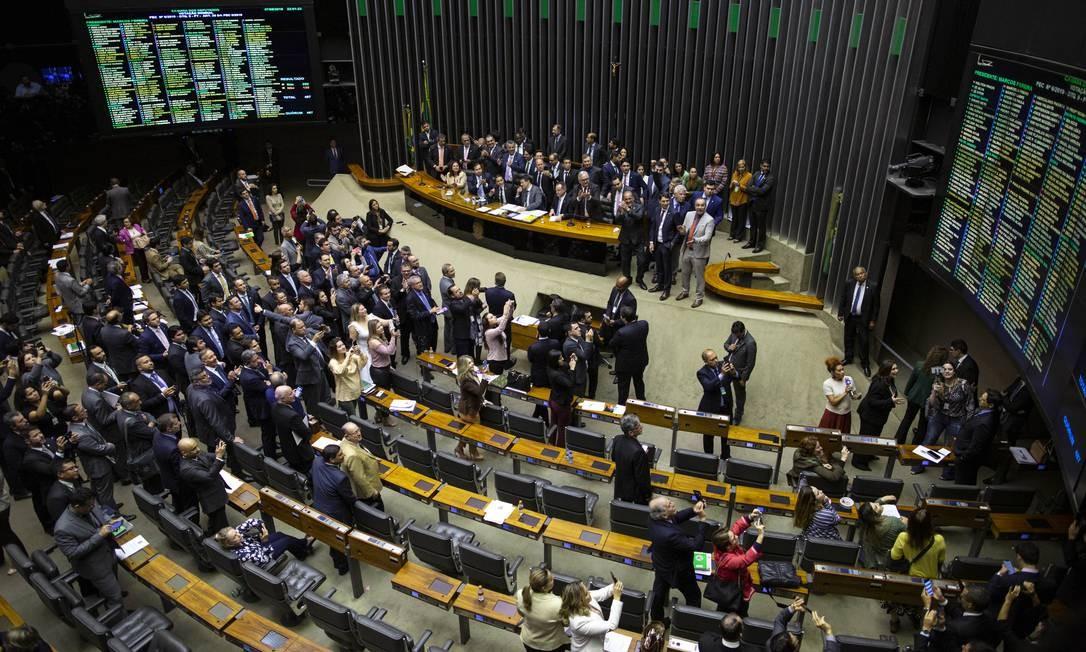O plenário da Câmara dos Deputados, em Brasília Foto: Daniel Marenco / Agência O Globo