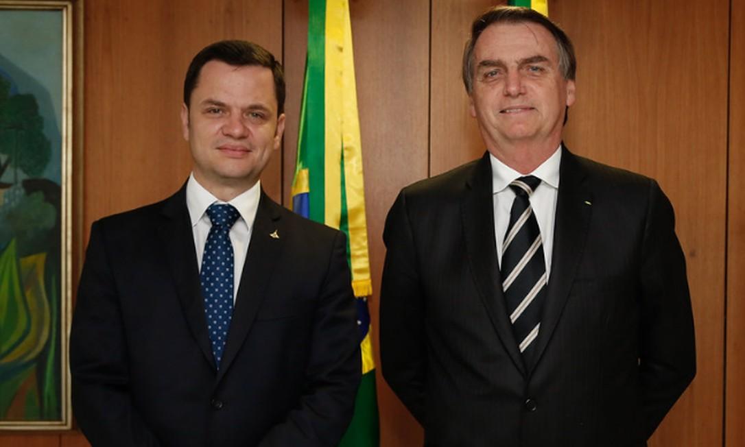O secretário de segurança do DF Anderson Gustavo Torres e o presidente Jair Bolsonaro Foto: Carolina Antunes / PR