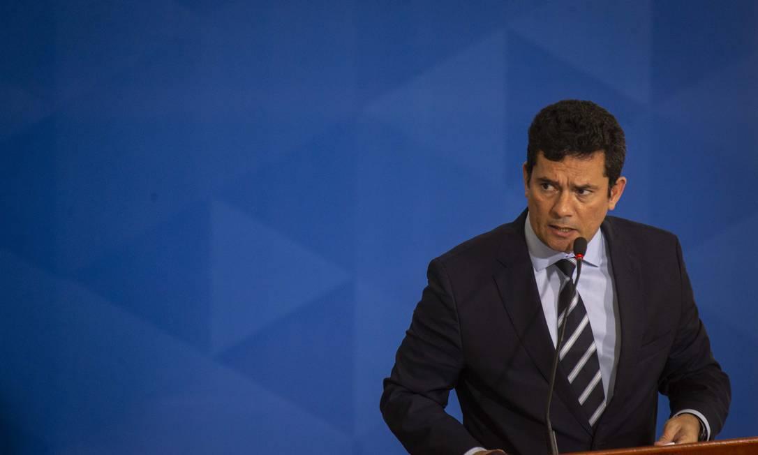 O ministro Sergio Moro enviou ofício ao Paulo Guedes pedindo mais recursos Foto: Daniel Marenco / Agência O Globo