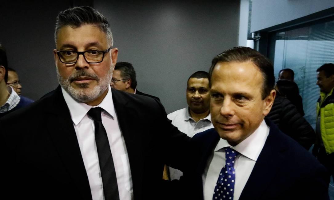 Doria também abriu as portas do PSDB para o deputado federal Alexandre Frota, que se filiou ao partido após ser expulso do PSL, por divergência às ideias do governo Bolsonaro Foto: Aloisio Mauricio / Fotoarena / Agência O Globo / 16/08/2019