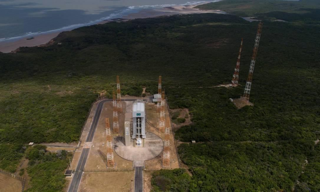 Foto aérea da Base de Alcântara, no Maranhão Foto: Daniel Marenco / Agência O Globo / 14-09-2018