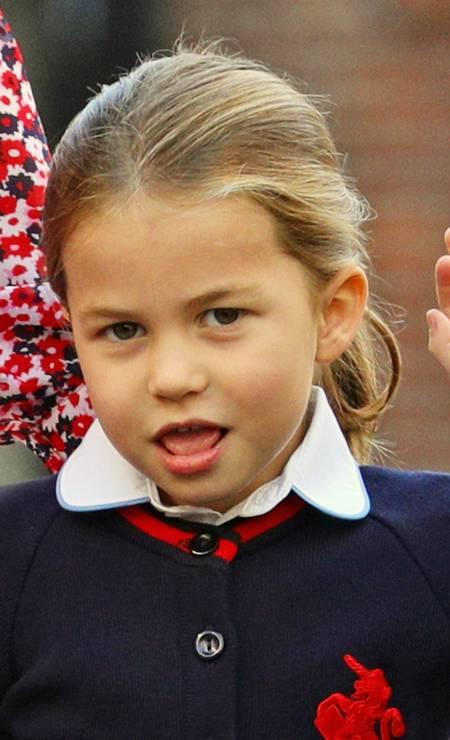 Charlotte, de 4 anos, estudará em Thomas's Battersea, mesma instituição frequentada por George Foto: WPA Pool / Getty Images