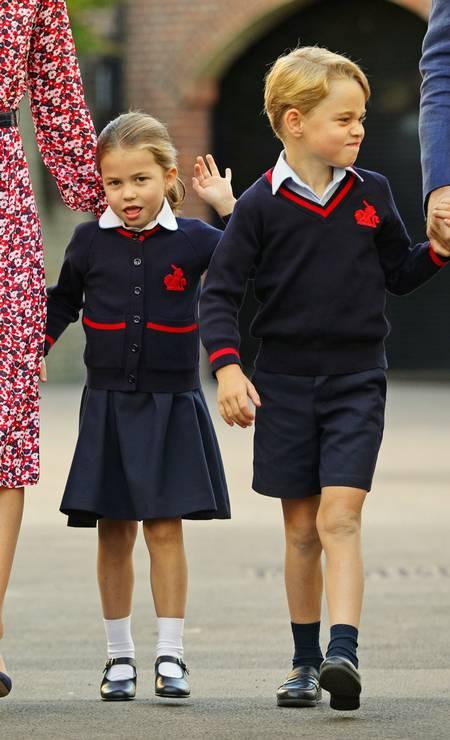Princesa Charlotte vai à escola pela primeira vez Foto: WPA Pool / Getty Images