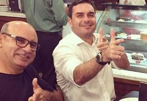 Fabrício Queiroz e Flávio Bolsonaro Foto: Reprodução
