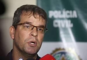 Delegado Bruno Ciniello, da Delegacia de Homicídios Foto: Fabiano Rocha / Agência O Globo