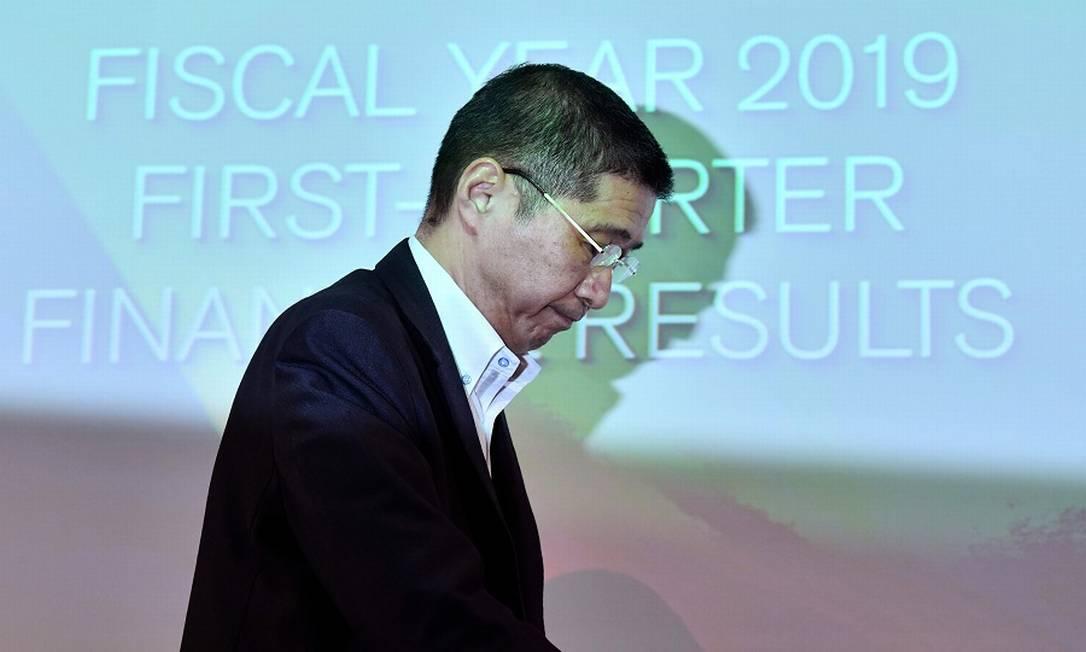O CEO da Nissan, Hiroto Saikawa. Foto: TOSHIFUMI KITAMURA / AFP