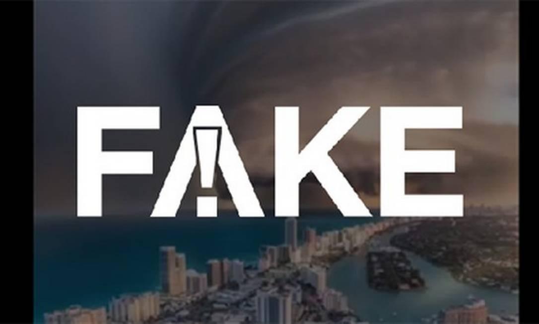 É #FAKE que vídeo mostre furacão Dorian sobre Miami Beach Foto: Reprodução