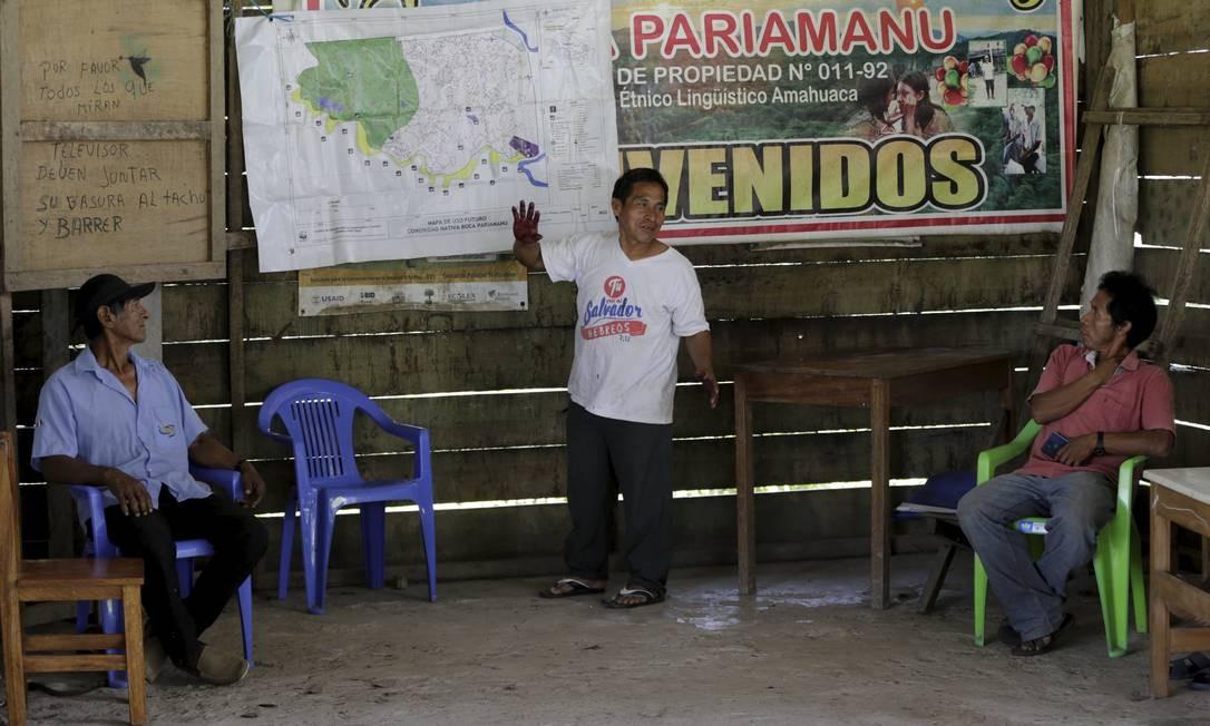 Aldeia indígena Paraiamanu Amahuaca, no Peru Foto: Domingos Peixoto / Agência O Globo