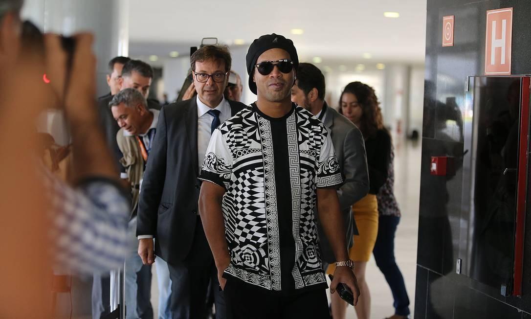 Ronaldinho Gaúcho foi nomeado Embaixador do Turismo pela Embratur Foto: Jorge William / Agência O Globo