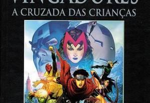 """Livro """"Vingadores, A cruzada das crianças"""" Foto: Reprodução"""