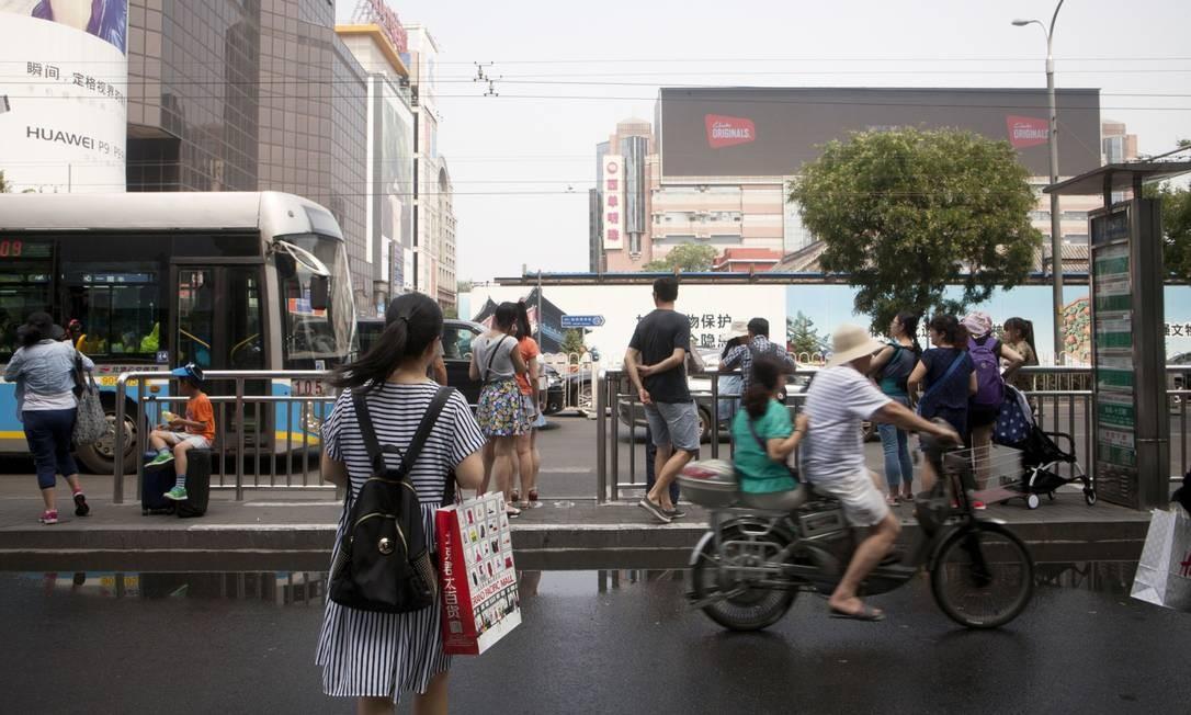 Área de compras em Xidan, bairro de Pequim. Economia chinesa desacelerou Foto: Giulia Marchi / Bloomberg News/4-7-2016